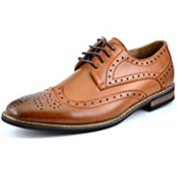 DREAM PAIRS Bruno Homme Moda Italy Prince Men's Classic Modern Oxford Wingtip Lace Dress Shoes