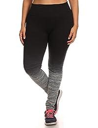 Womens Plus Size Activewear Yoga Ombre Leggings
