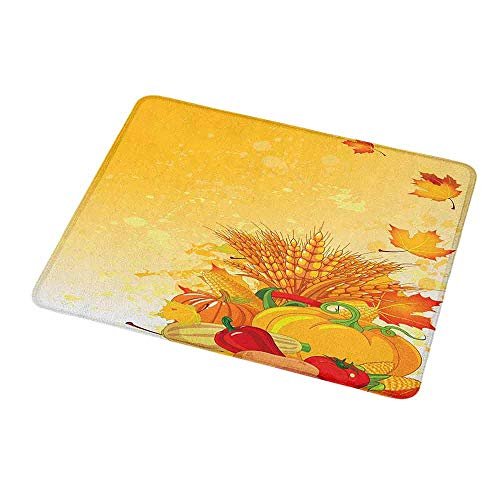 - Anti-Slip Gaming Mouse Mat/Pad Harvest,Vivid Festive Collection of Vegetables Plump Pumpkins Wheat Fall Leaves,Earth Yellow Green Red,Gaming Non-Slip Rubber Large Mousepad 9.8