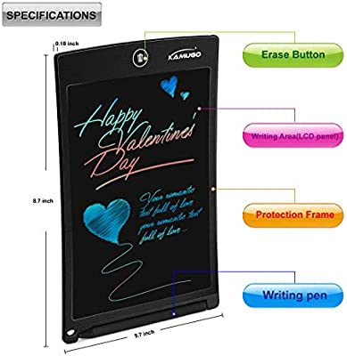 KAMUGO LCD Writing Tablet 10 Inch Writing Board Multi Color Stylus Smart Paper for Drawing Note eWriter Drawing Pad Electronic Drawing Tablet for Kids Adults