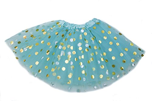 The Hair Bow Company Girl Gold Polka Dot Tulle Tutu Skirt 11