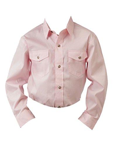 Roper 03-030-0265-1066 Boys Wstrn Modle Vrgtd Snap Lng Sleeve Shirt, Pink - XL