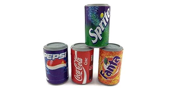 4 pc en miniatura lata de Coca Cola refrescos pared imán Souvenir ...
