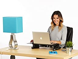 Height Adjustable Laptop Stand with Fans / Standing Desk / TV Bed Lap Tray Stand - Black