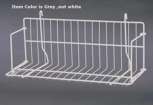 New Retails Grey Strong Welded Design Grid Standard Shelf 18'' Wide by Standard Shelf