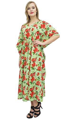 Bimba Frauen Floral Maxi lange Kaftan Cotton Coverup ...
