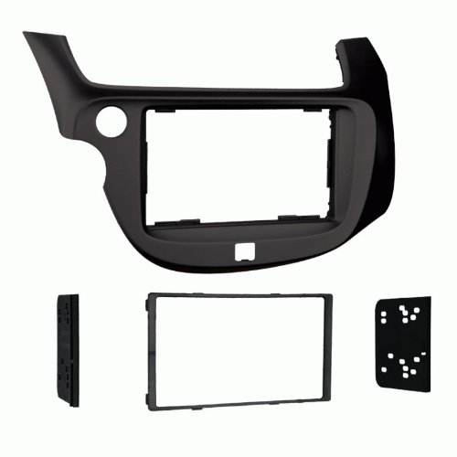 Metra Electronics 95-7877B Double-DIN Dash Kit for Honda Fit 2009-13, (Black) - Honda Fit Dash