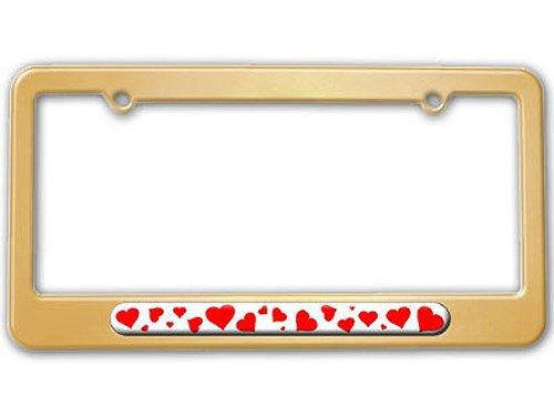 gold color license plate frame - 5