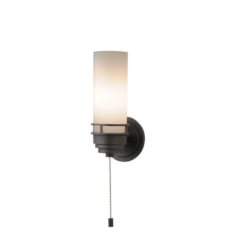 Contemporary single light sconce with pull chain switch wall contemporary single light sconce with pull chain switch wall sconces amazon aloadofball Image collections