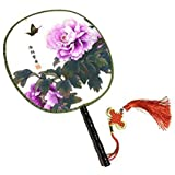 Attractive Chinese Round Fan Classical Dancing Dan With Beautiful Pattern, #24