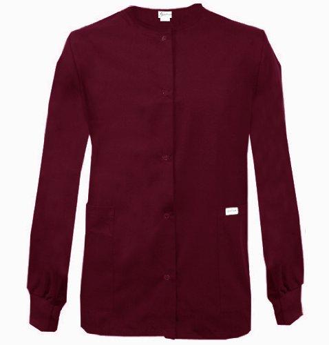 Spectrum SCRUB JACKET Round Neck Jacket Knit Cuffs (Size M Color Wine)