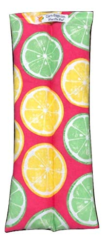 The Original Corn Bag Microwavable Heating Pad in Fun Lemons Flannel Fabric Perfect Pack for Pain Relief from Arthritis Pain, Headaches, Menstrual Cramps, Warming Up