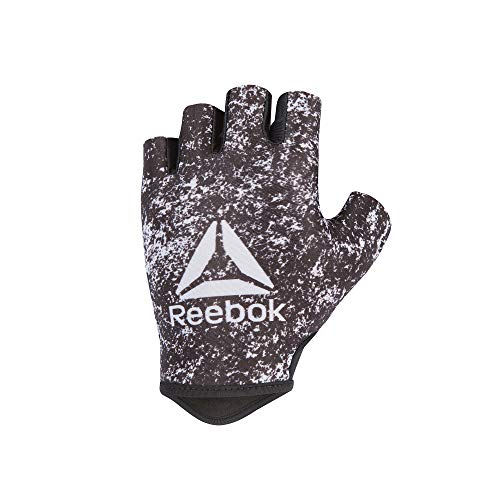 Reebok Women\'s Weight Lifting Workout Gloves High Performance with Natural Grip, Black/White, Size Small'