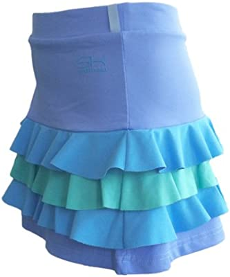 Sportkind - Skort (falda con pantalón corto integrado) para niña y ...