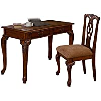 Dark Walnut Fairfax 48 Inch Writing Desk & Chair Set