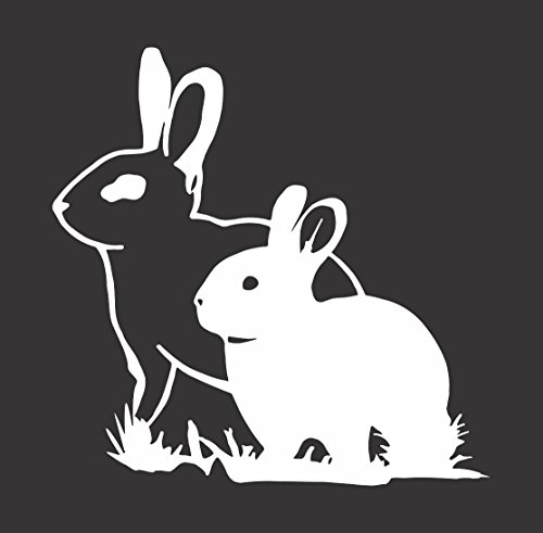 Barking Sand Designs Rabbit (Bunny) Couple - Die Cut Vinyl Window Decal/Sticker Car/Truck 5