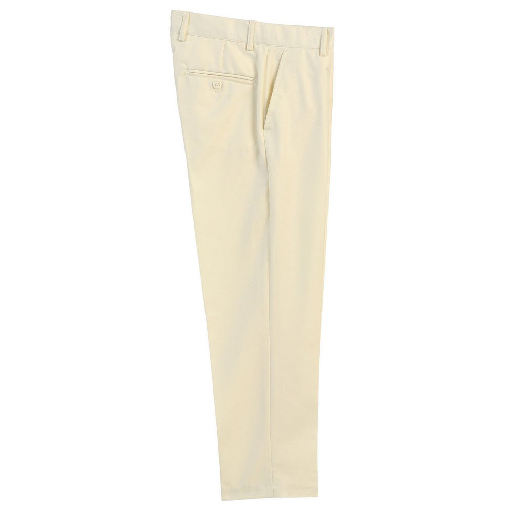 Big Boys Ivory Flat Front Formal Special Occasion Dress Pants 16
