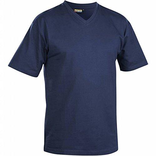 336011658800XXXL T-Shirt with V-Collar Size XXXL In Navy Blue