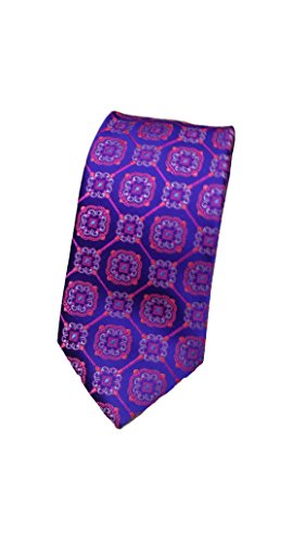 Robert Talbott Purple, Blue and Red Heritage Best of Class Extra Long Tie ()