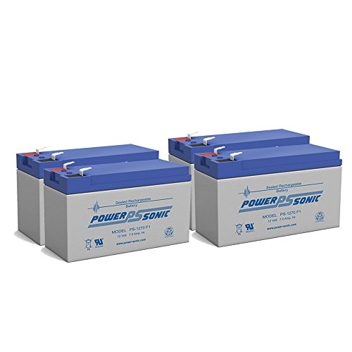 Rbc22 Ups - Powersonic 12V 7AH SLA Battery for APC RBC5 RBC9 RBC22 RBC32 RBC33 Replaces ZEUS PC7-12 - 4 Pack