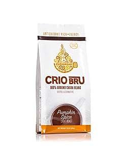 Crio Bru Pumpkin Spice Light Roast Organic Herbal Tea Coffee Alternative Substitute 99% Caffeine Free Whole-30 Gluten Free Honest Energy Boost Low Calorie (24oz)