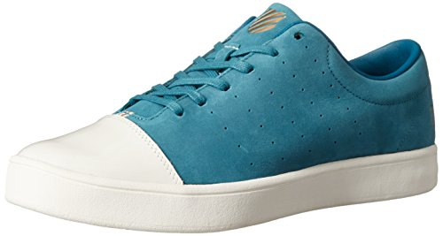 Eyelet Colonial (K-Swiss Men's Washburn P Fashion Sneaker, Colonial Blue/Bone/Star White, 8.5 M US)