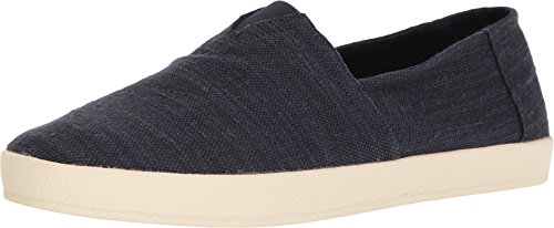 TOMS Men's Avalon Slip-On Navy Slubby Linen Loafer