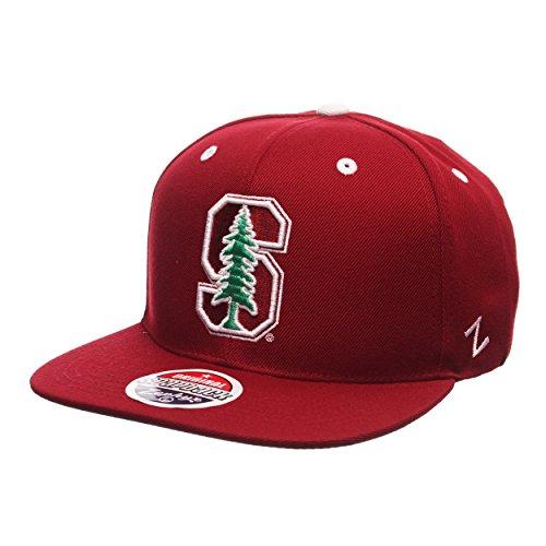 Stanford Cardinal Z11 Adjustable Snapback Cap - NCAA Flat Bill Zephyr Baseball Hat