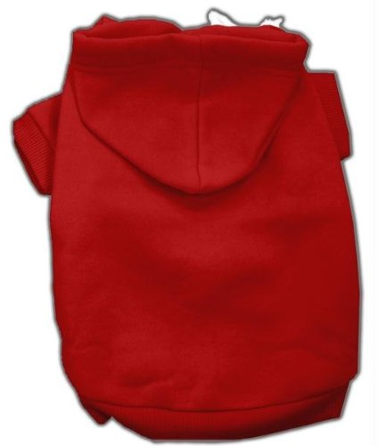 Mirage Pet Products 8-Inch Blank Hoodies, X-Small, Red by Mirage Pet Products