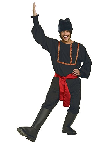 Rubie's Men's Black Russian Costume, As Shown, X-Large -