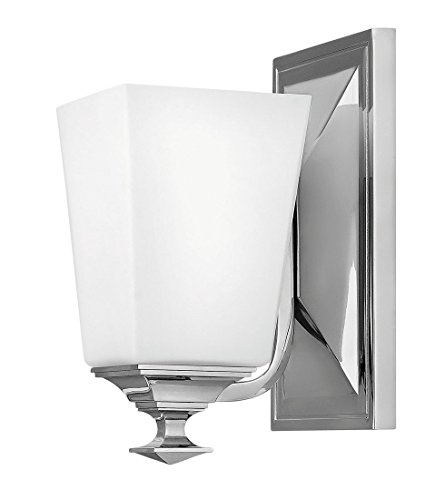Hinkley 56670PN Transitional One Light Bath Sconce from Baldwin collection in Chrome, Pol. (Hinkley Chrome Sconce)