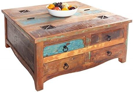 DuNord Design – Mesa baúl Muebles Madras 70 cm baúl reciclado ...
