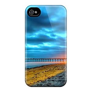 For Iphone Case, High Quality Beach Lights For Iphone 4/4s Cover Cases