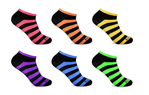 6 Pairs Ankle Socks Multicolor Stripe Women's Low Cut No Show Ankle Wholesale lot 9-11 Shoes Accessories Socks for Women Needed from funfashion