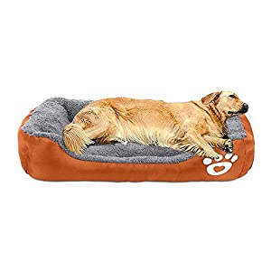 AsFrost Dog Bed Super Soft Pet Sofa Cats Bed,Non Slip Bottom Pet Lounger,Self Warming and Breathable Pet Bed Premium…