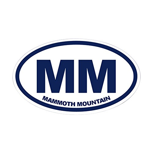 CafePress Mammoth MTN Oval Bumper Sticker, Euro Oval Car Decal