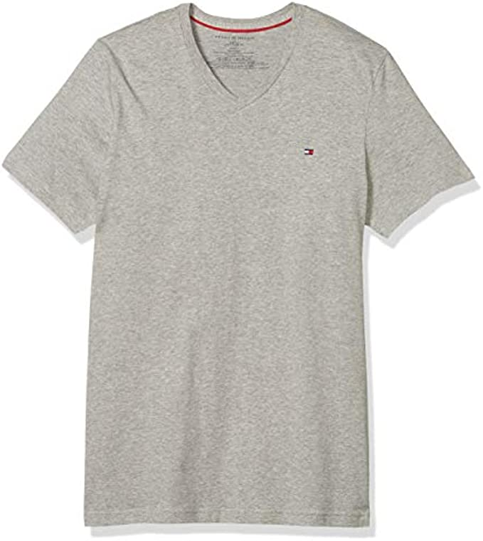 Tommy Hilfiger Men's Core Flag V-Neck Tee : Color - Mahogany, Size - X-Large (B01MY3J2S4)