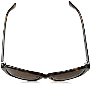 Cole Haan Women's Ch7007 Plastic Rectangular Sunglasses, 56 mm