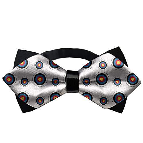 MrDecor Men's Gifts Pre-Tied Satin Formal Tuxedo Bow Tie Archery Target Colorado Circular