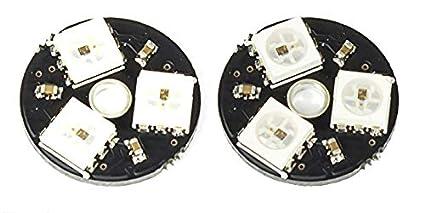 MissBirdler 2 Unidades 3 bits RGB LED Board WS2812 5050 5 V para ...