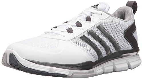 adidas Men's Speed Trainer 2 Wide Cross Shoe, White/Carbon Met. Light Onix, 6.5 M US