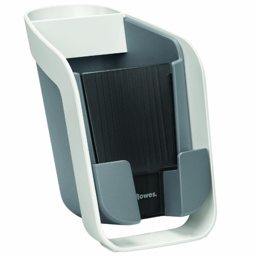 I-Spire Series Pencil & Phone Station Smartphone Stand, White/Gray () - FELLOWES 9381301