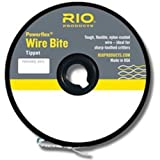 Rio Fly Fishing Tippet Power Flex-Wire Bite Tippet 30Lb 15′. Fishing Tackle, Clear For Sale
