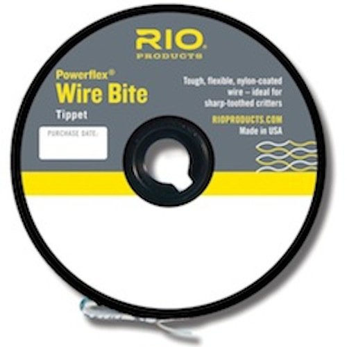Rio Fly Fishing Tippet Power Flex-Wire Bite Tippet 30Lb 15'. Fishing Tackle, Clear