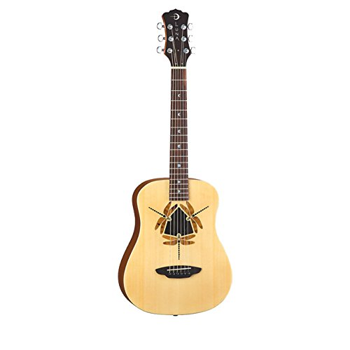 Luna Safari Series Dragonfly 3/4-Size Travel Acoustic Guitar – Natural