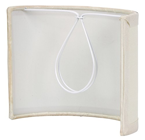 Upgradelights 5 Inch Tall Wall Sconce Clip on Shield Lamp Shade (Chandelier Half - Clip On Shades