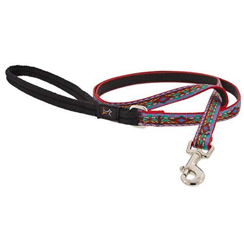 Lupine El Paso Patterned, Padded Handle Dog Lead, 1/2 inch Wide 4 ft Long