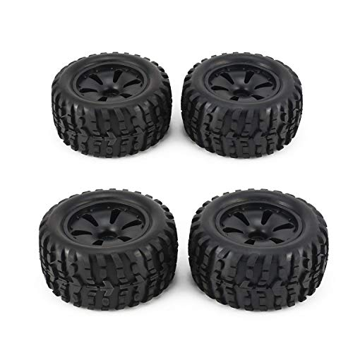 (2 Pair 1:10 RC Car Tire Monster Truck Rim Wheel High Speed for HPI, Savage, XS, TM Flow, MT, ZD Racing Parts Refit 120mm)