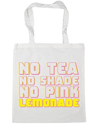 HippoWarehouse Kein tee Keinen lampenschirm Keine rosa limonade Einkaufstasche Fitnessstudio Strandtasche 42cm x38cm, 10 liter - Damen, Weiß, One size