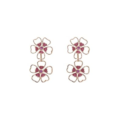 13b92f66f625 TED BAKER - Lorel Enamel Flower Double Drop Earring  Amazon.co.uk  Jewellery